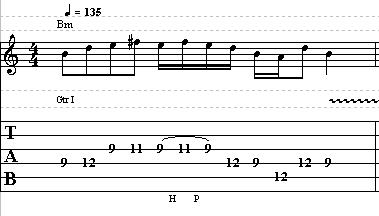 Easy Acoustic Blues Guitar Lick in B minor