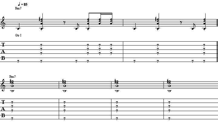 thrill is gone chords