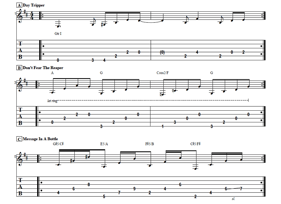 3 easy electric guitar song intros
